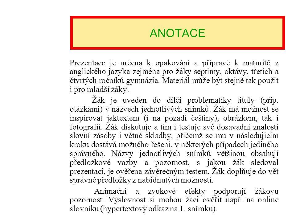 NÁZEV ŠKOLY : Gymnázium Lovosice, Sady pionýrů 600/6 ČÍSLO PROJEKTU : CZ.1.07/1.5.00/34.1073 NÁZEV MATERIÁLU : VY_32_INOVACE_3B_11_Health and body car