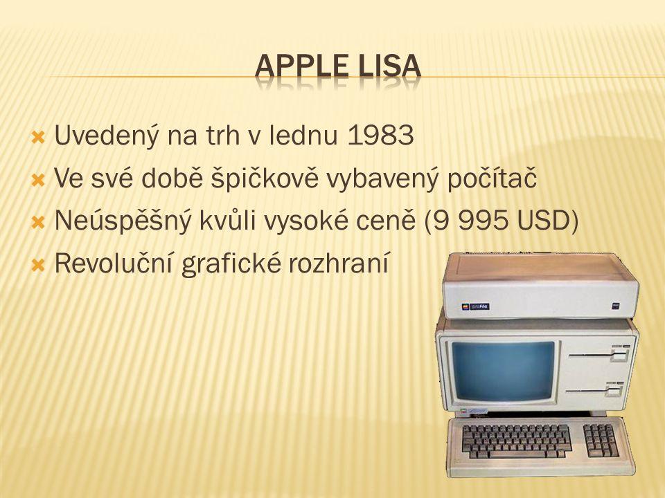  Uvedený na trh v lednu 1983  Ve své době špičkově vybavený počítač  Neúspěšný kvůli vysoké ceně (9 995 USD)  Revoluční grafické rozhraní