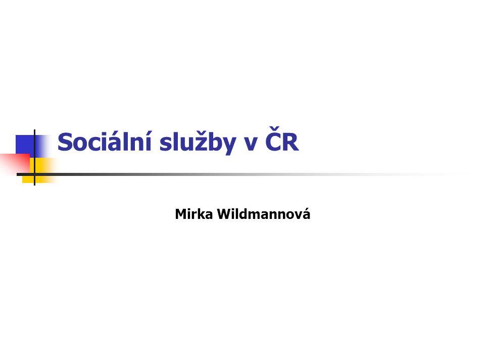 Sociální služby v ČR Mirka Wildmannová
