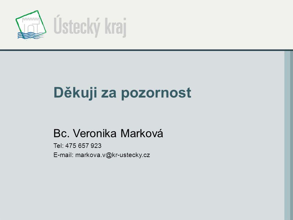 Děkuji za pozornost Bc. Veronika Marková Tel: 475 657 923 E-mail: markova.v@kr-ustecky.cz