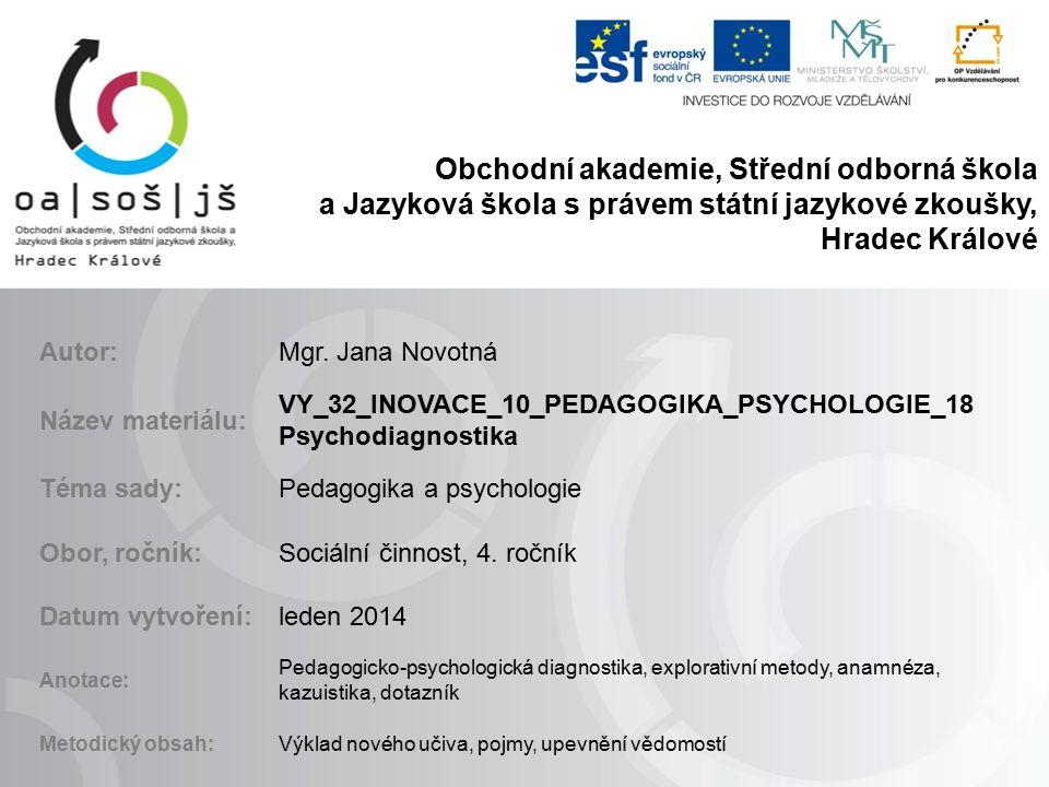 Použitá literatura a obrázek KOPECKÁ I.Psychologie 2.