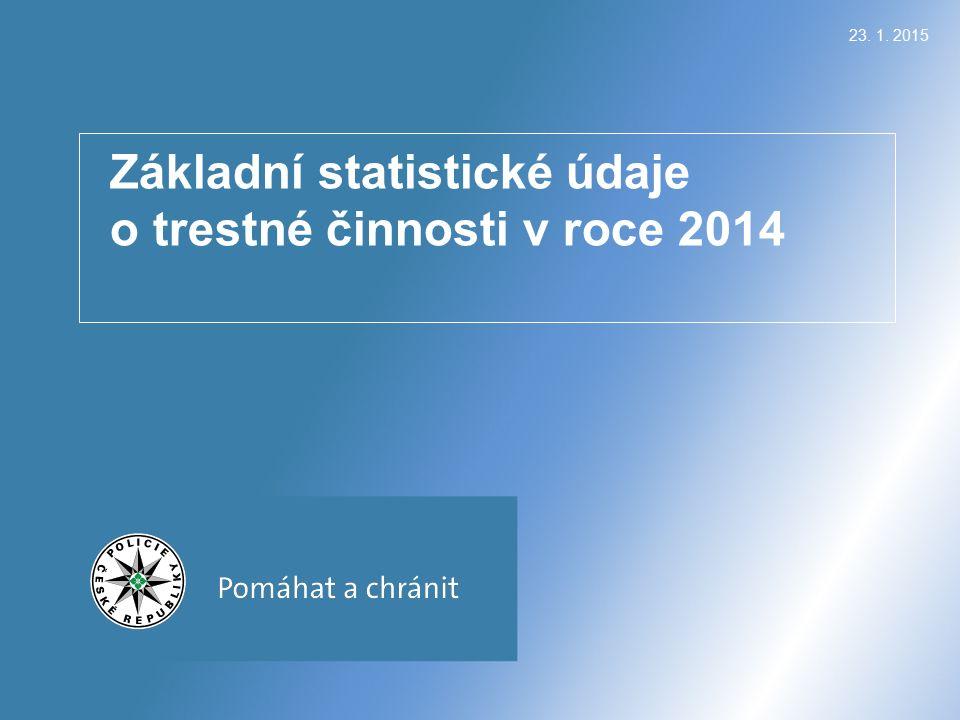23. 1. 2015 Základní statistické údaje o trestné činnosti v roce 2014