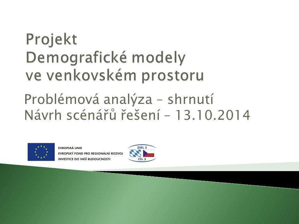 Problémová analýza – shrnutí Návrh scénářů řešení – 13.10.2014