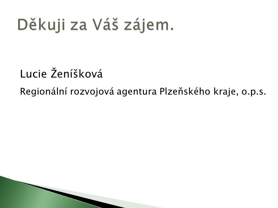 Lucie Ženíšková Regionální rozvojová agentura Plzeňského kraje, o.p.s.