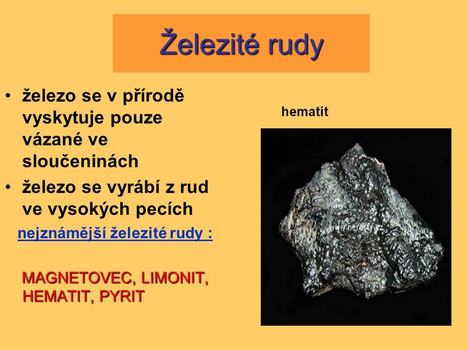 magnetovec pyrit limonit hematit