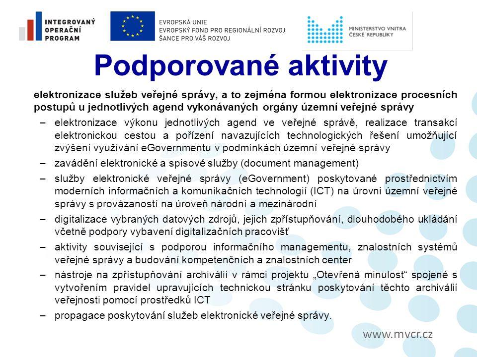 www.mvcr.cz Kontroly na místě Je prováděna formou veřejnosprávní kontroly dle ZFK a ZSK u vzorku projektů na základě analýzy rizik.