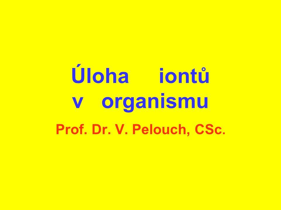 Úloha iontů v organismu Prof. Dr. V. Pelouch, CSc.