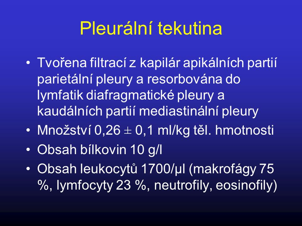 Treatment options for malignant pleural effusions Observation - for small and asymptomatic effusions, effusions will usually increase in size and need intervention Therapeutic thoracentesis -transient and rapid relief of dyspnoea; minimally invasive; suitable for outpatient setting-high recurrence rate; risk of iatrogenic empyema and pneumothorax Chest tube insertion with intrapleural sclerosant Success rate>60%; low incidence of complications Side effects of sclerosants Thoracoscopy with talc poudrage high success rate (90%)-invasive Less commonly used options-long term indwelling catheter drainage-suitable for outpatient setting;-modest success rate-local infection; risk of tumour seeding in mesothelioma Pleuroperitoneal shunt Good performance status required to manage shunt (WHO 0,1); occlusion; infection Pleurectomy-very low recurrence rate-invasive significant morbidity and mortality
