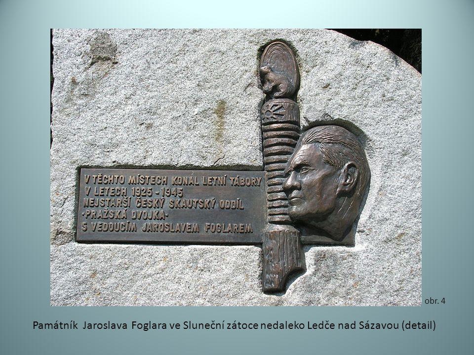 Památník Jaroslava Foglara ve Sluneční zátoce nedaleko Ledče nad Sázavou (detail) obr. 4