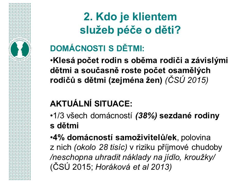 Některé školky jsou nuceny přijímat dvouleté děti (regionální a finanční nedostupnost jeslí) Vysoký počet odkladů nástupu do základní školy (sociální nezralost, vady řeči) Nedostatek zájmu mnoha romských rodičů a jejich dětí navštěvovat školky (odhad 40% absence - IDNES 2014; ČT 2015; akční plán rovné příležitosti - MŠMT 2014b) Rostoucí počet tříd pro děti se speciálními potřebami – lze sloučit handicapované děti s normálními v rámci politiky inkluze.