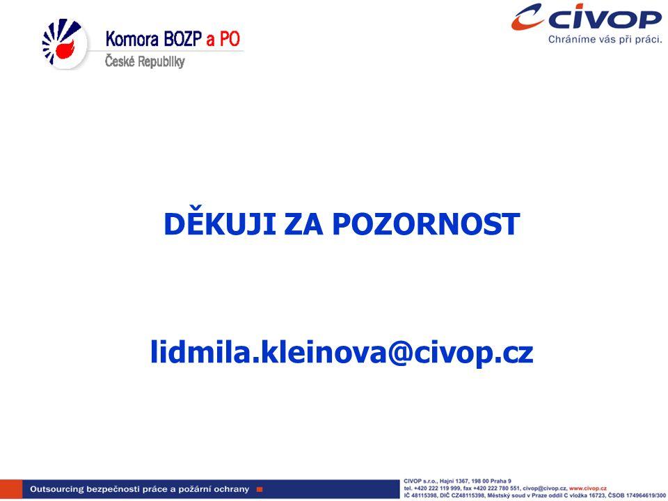DĚKUJI ZA POZORNOST lidmila.kleinova@civop.cz