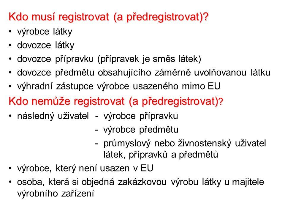 Kdo musí registrovat (a předregistrovat).
