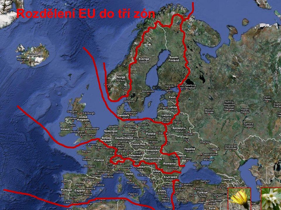Rozdělení EU do tří zón