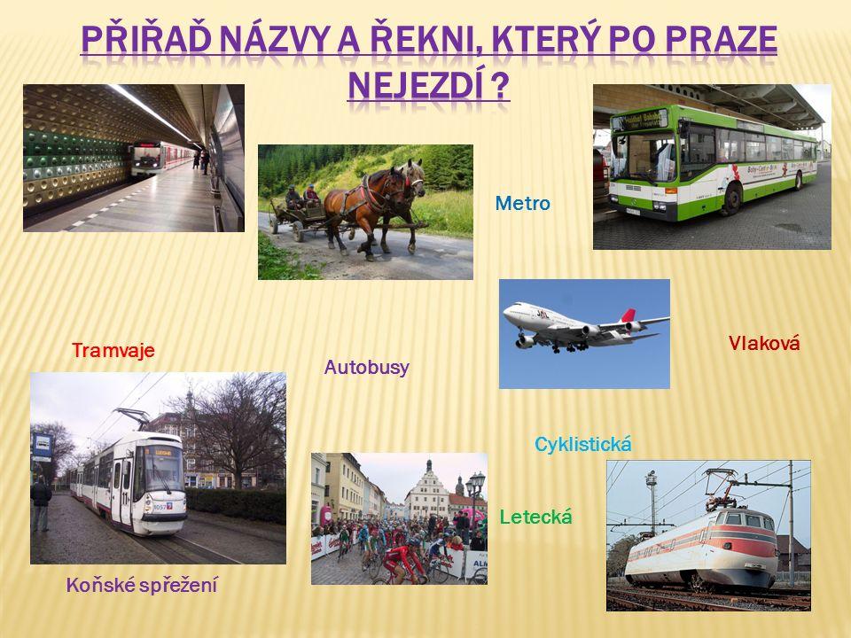 Koňské spřežení Letecká Metro Vlaková Autobusy Tramvaje Cyklistická