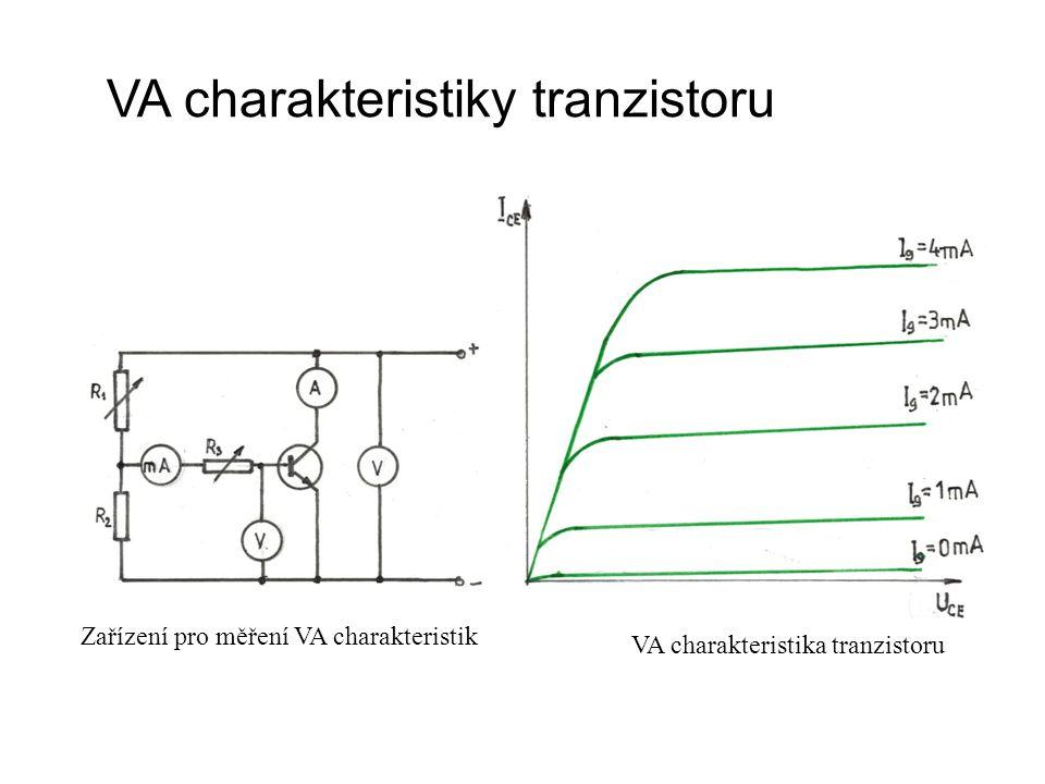 VA charakteristiky tranzistoru Zařízení pro měření VA charakteristik VA charakteristika tranzistoru