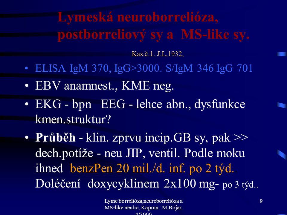Lyme borrelióza,neuroborrelióza a MS-like neubo, Kaprun.