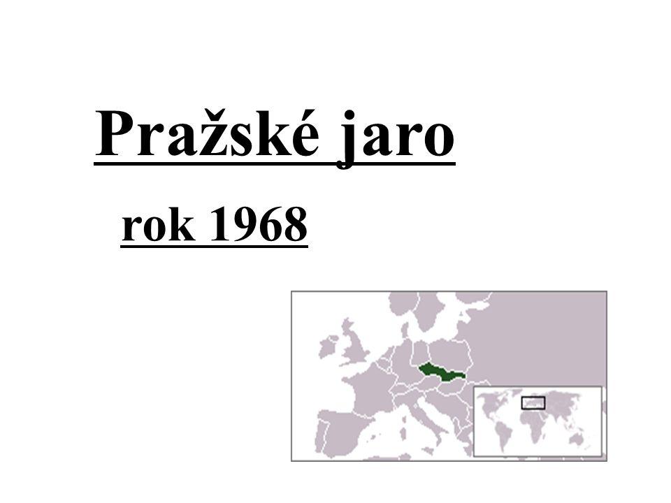 Pražské jaro rok 1968