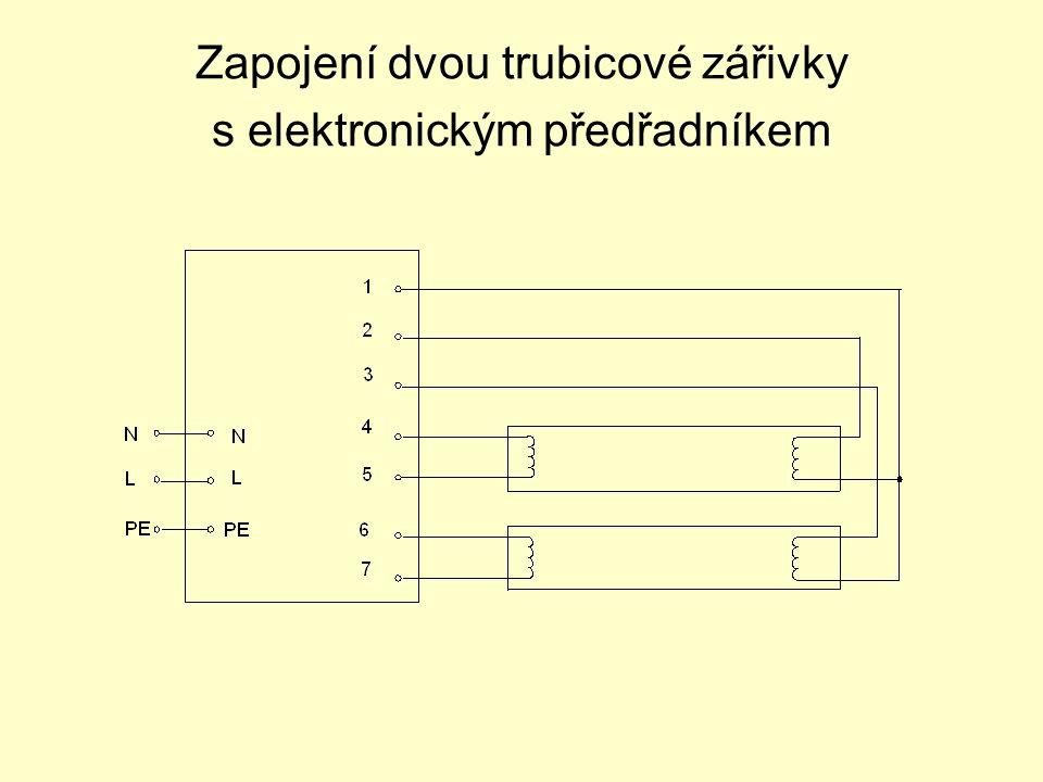 Zapojení dvou trubicové zářivky s elektronickým předřadníkem