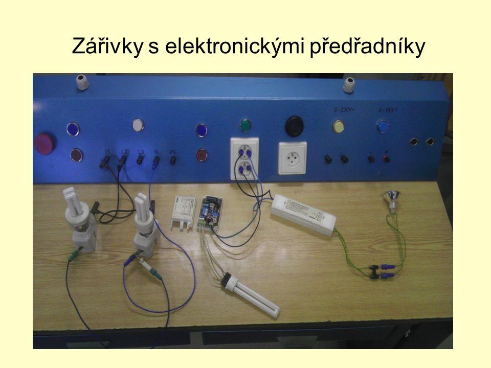 Měření I a P na zářivce 2x36W s elektronickým předřadníkem