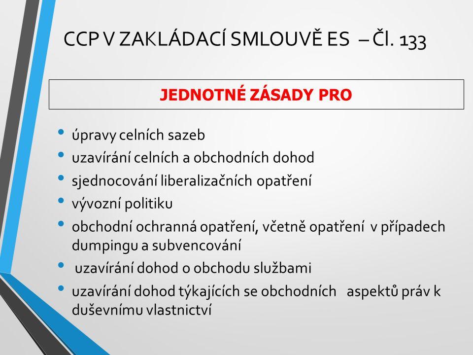 CCP V ZAKLÁDACÍ SMLOUVĚ ES – Čl.