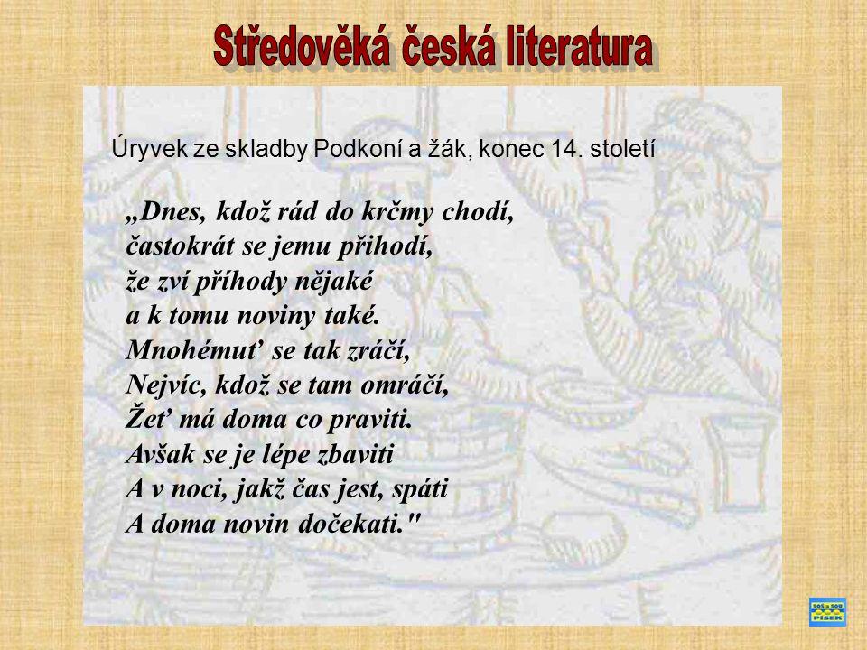 Hradecký rukopis - soubor satir z 2.poloviny 14.