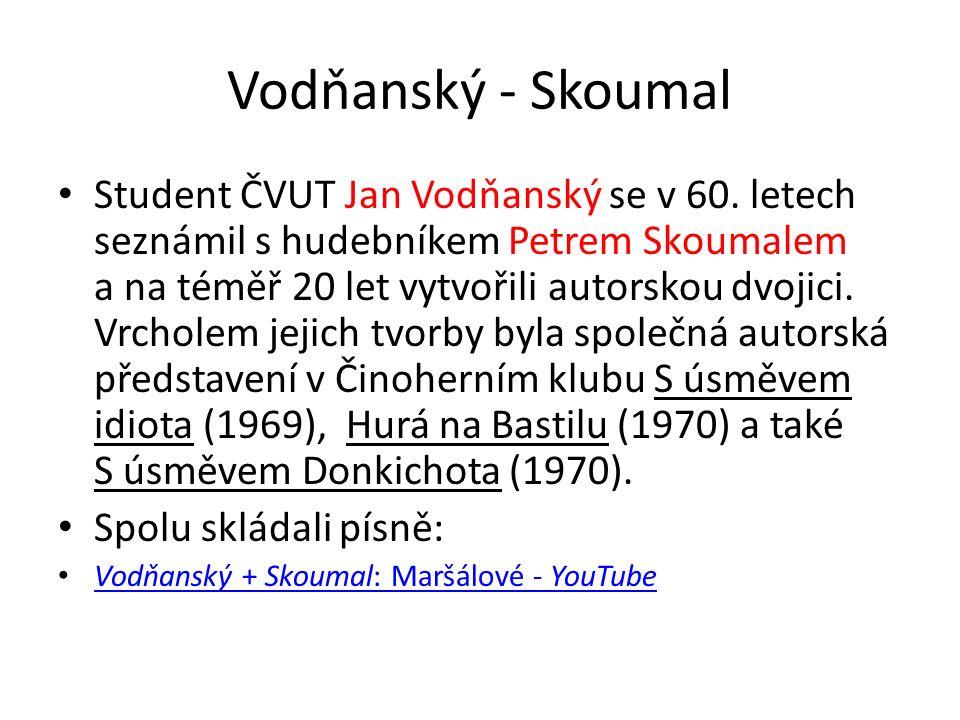Vodňanský - Skoumal Student ČVUT Jan Vodňanský se v 60.