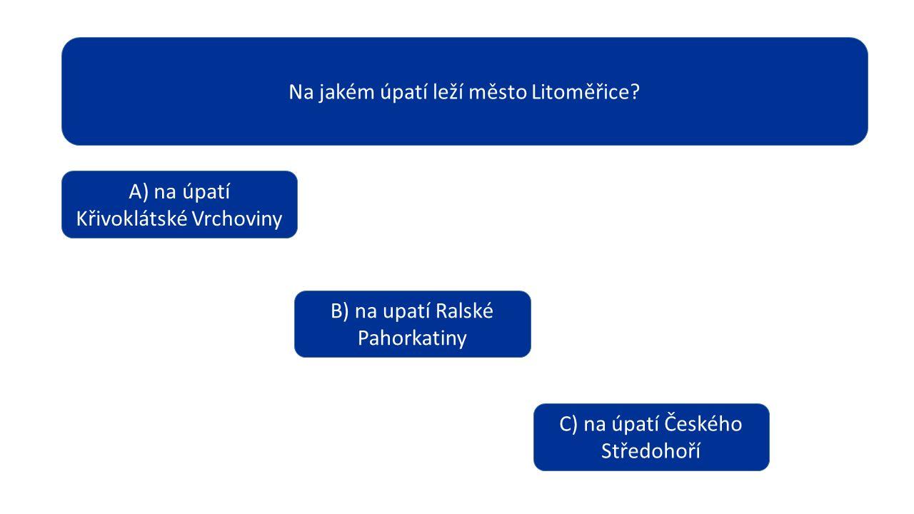 Na jakém úpatí leží město Litoměřice.