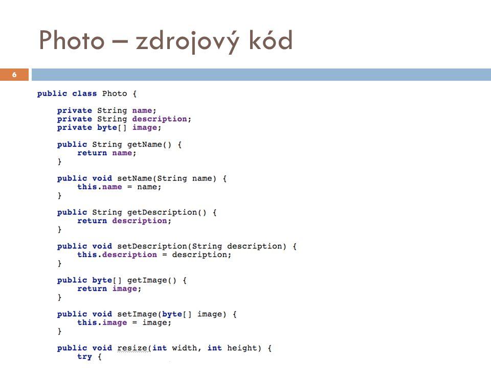 Photo – zdrojový kód 6
