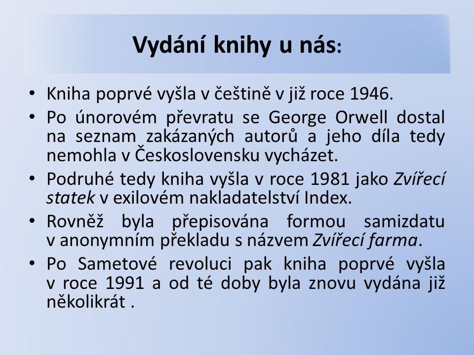 Vydání knihy u nás : Kniha poprvé vyšla v češtině v již roce 1946.