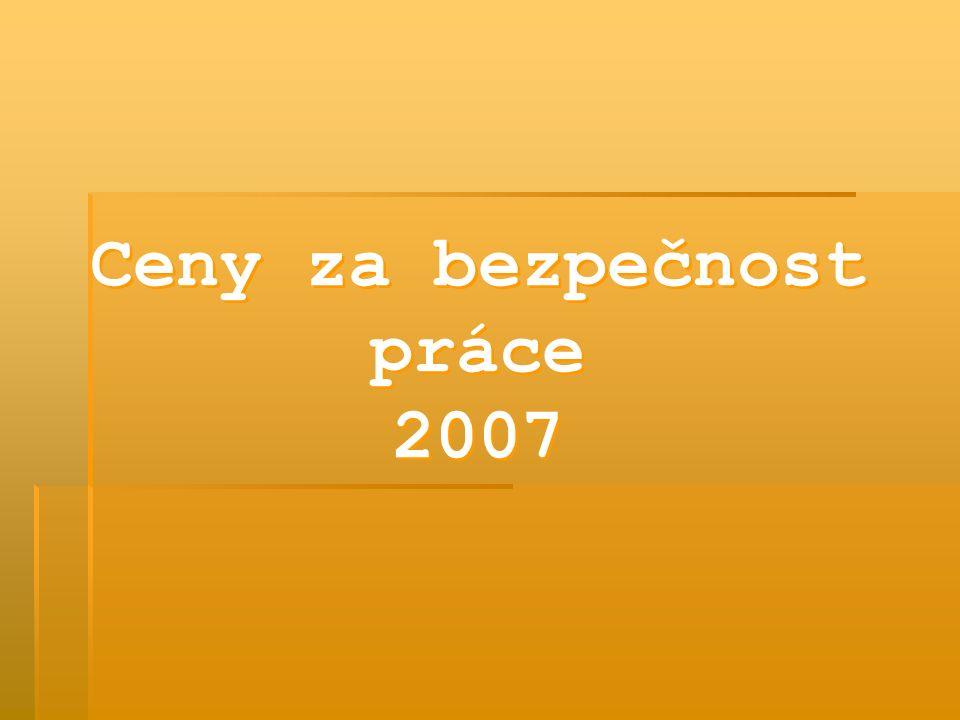 Ceny za bezpečnost práce 2007 Ceny za bezpečnost práce 2007
