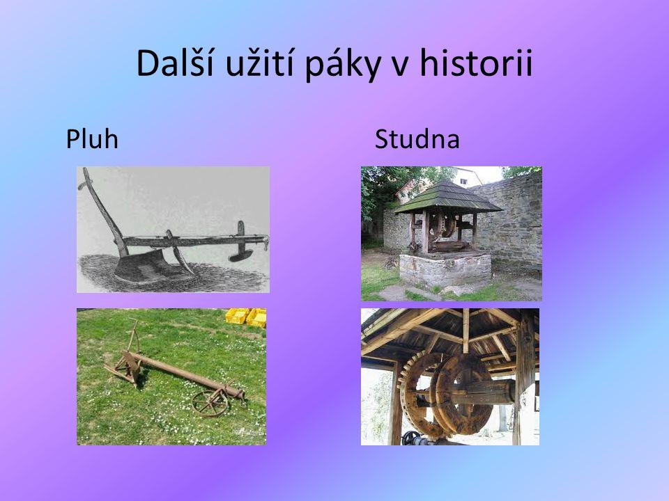 Další užití páky v historii PluhStudna