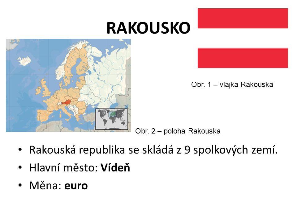 RAKOUSKO Rakouská republika se skládá z 9 spolkových zemí.