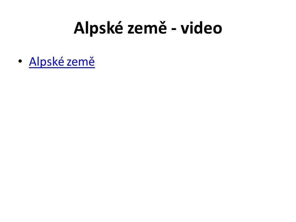 Alpské země - video Alpské země