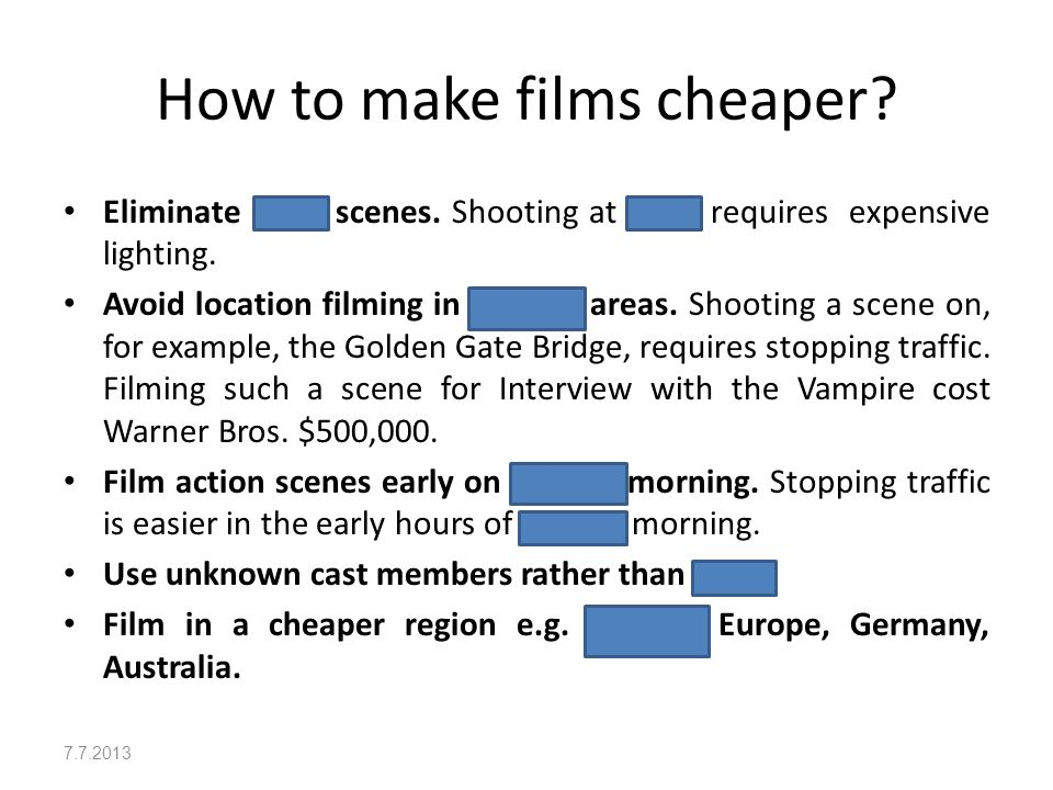 Film Tips What kind of films are they .