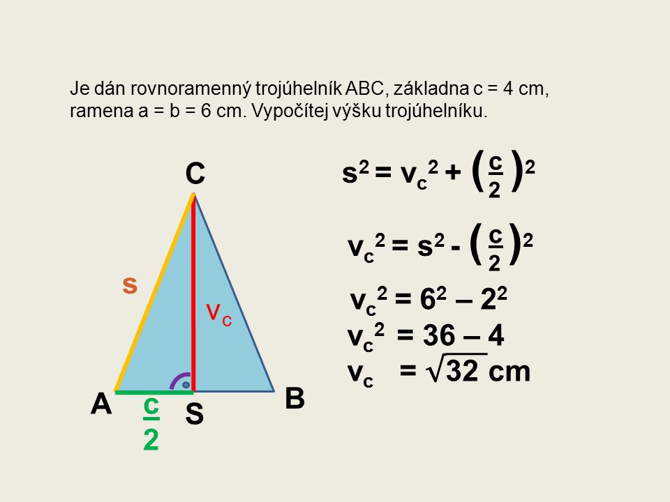 Je dán rovnostranný trojúhelník XYZ, strana a = 8 cm, Vypočítej výšku trojúhelníku. X Y Z
