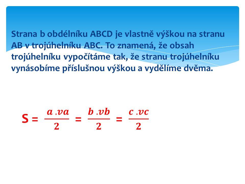 Sestroj trojúhelník ABC, kde a = 3 cm, b = 4 cm, c = 5 cm.