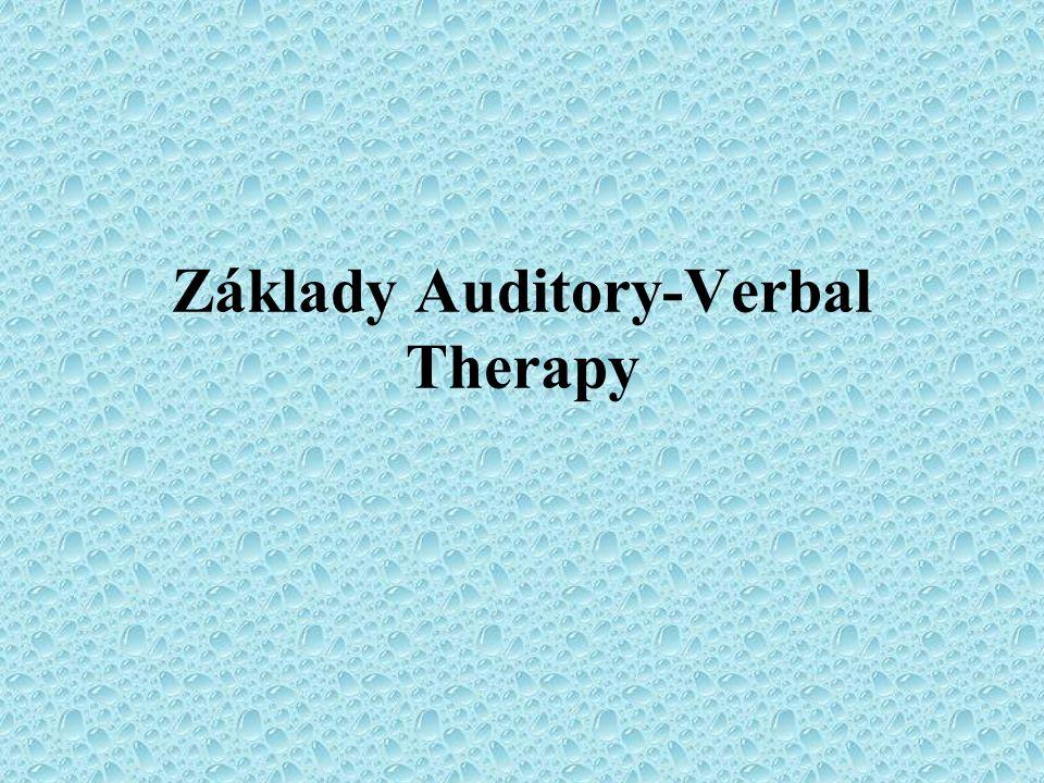 Základy Auditory-Verbal Therapy