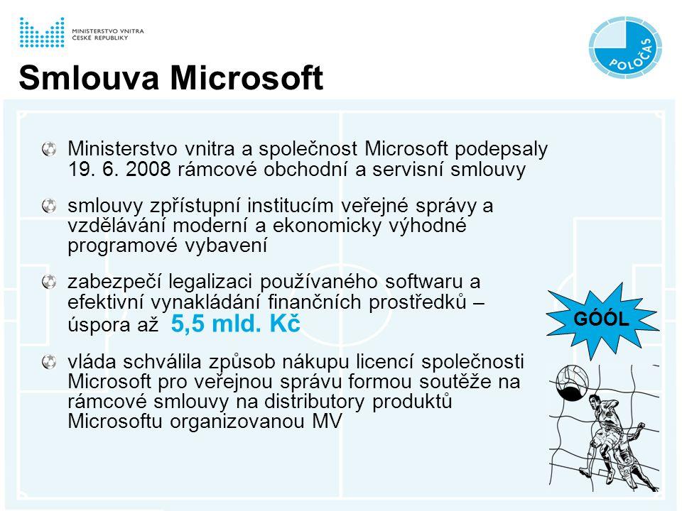 Smlouva Microsoft Ministerstvo vnitra a společnost Microsoft podepsaly 19.