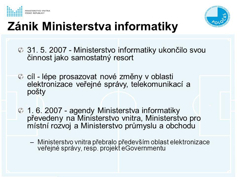 Zánik Ministerstva informatiky 31. 5.
