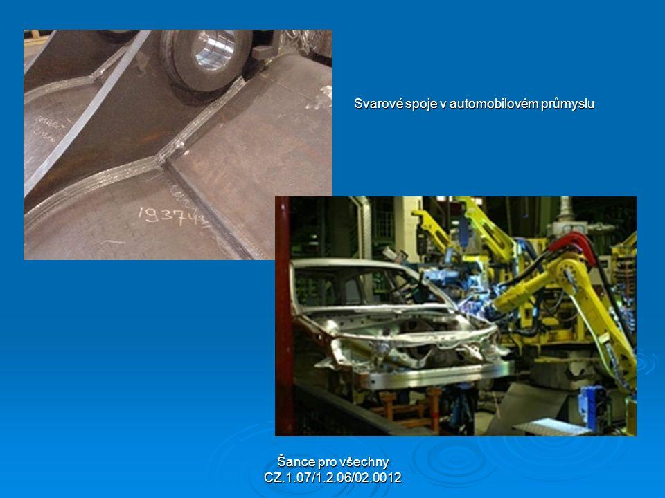 Šance pro všechny CZ.1.07/1.2.06/02.0012 Svarové spoje v automobilovém průmyslu