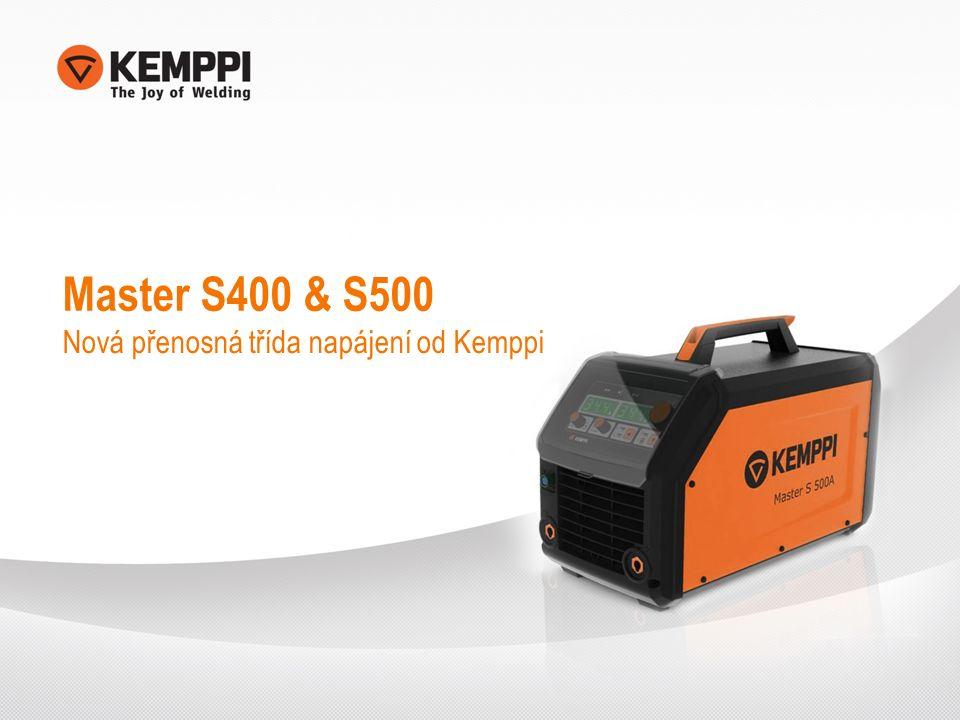 Master S400 & S500 Nová přenosná třída napájení od Kemppi