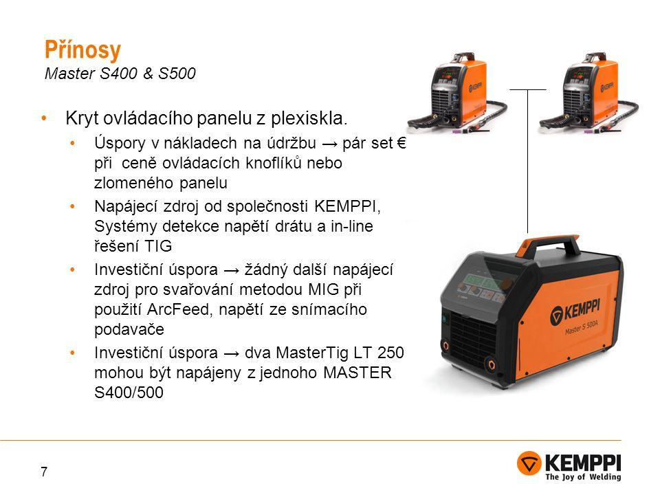 8 Master S 400Master S 500 Připojovací napětí380 – 440 V(-10%...