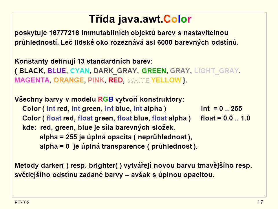 PJV08 17 Třída java.awt.Color