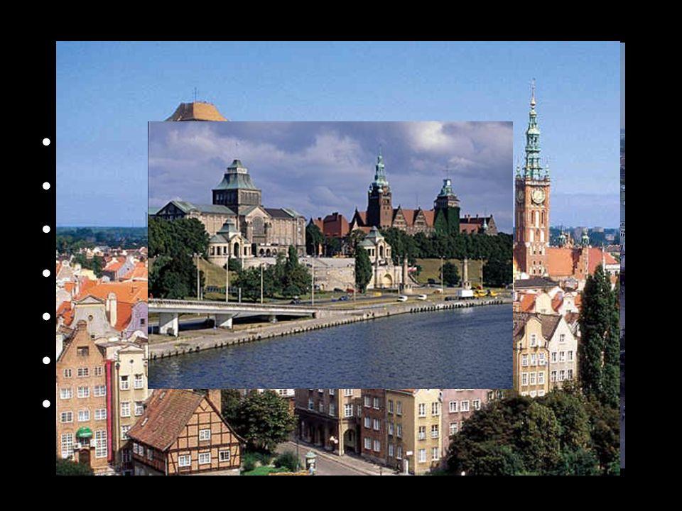 Města Krakov Lodž Vratislav Gdaňsk Katovice Gdyně Štětín