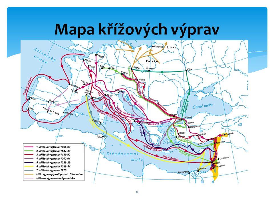 8 Mapa křížových výprav