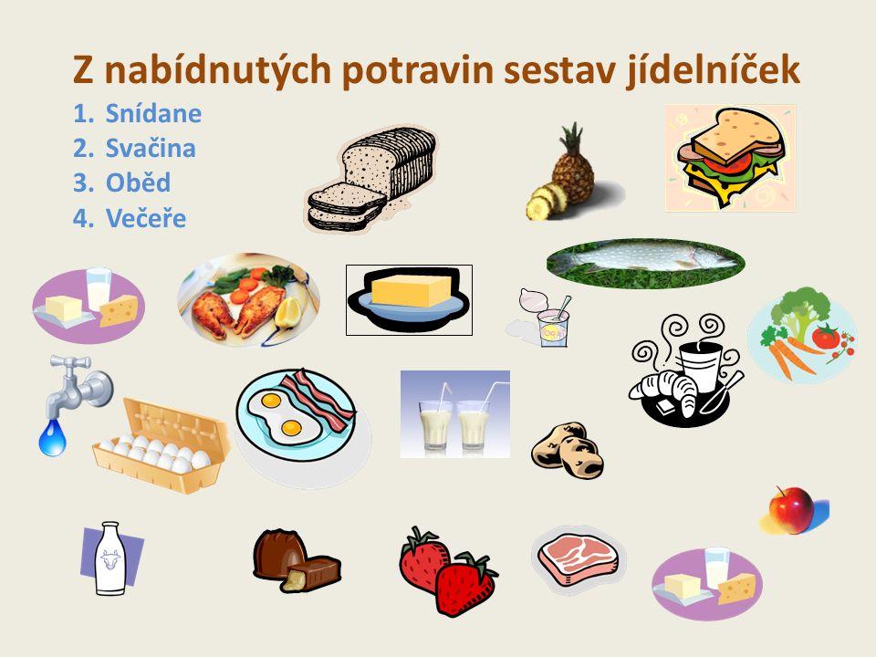 NA KTERÉM OBRÁZKU JE ZDRAVĚJŠÍ OBĚD ? A B Králík se zelím a bramborovými knedlíkySmažený kuřecí řízek, brambor, zelenina