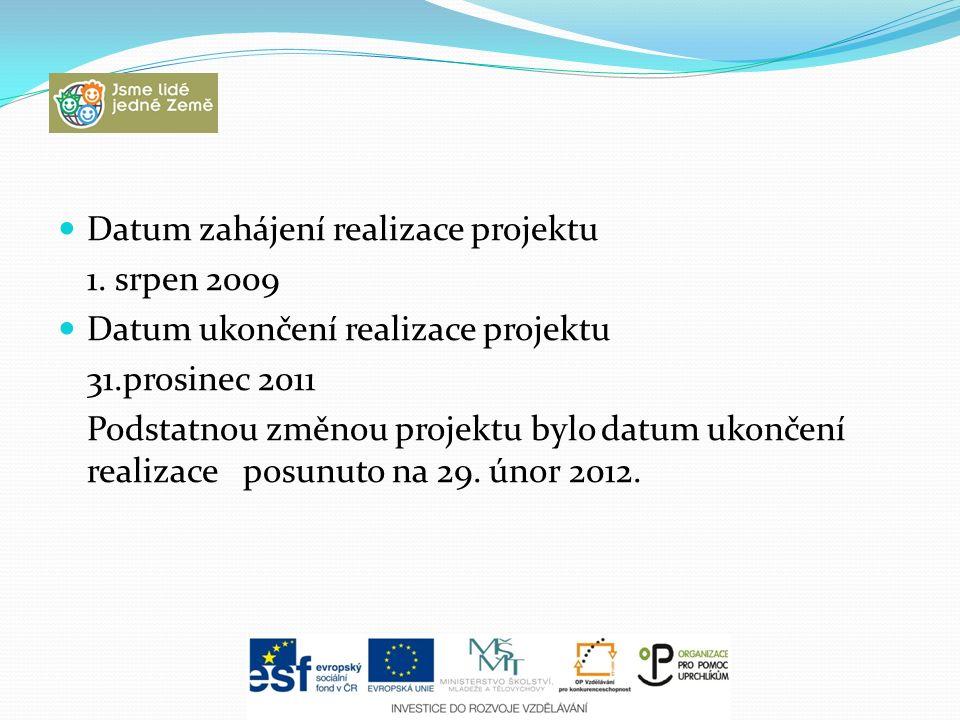 Datum zahájení realizace projektu 1.