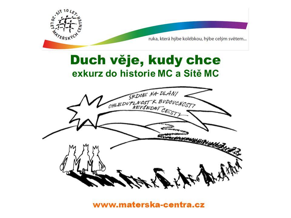 Duch věje, kudy chce exkurz do historie MC a Sítě MC www.materska-centra.cz