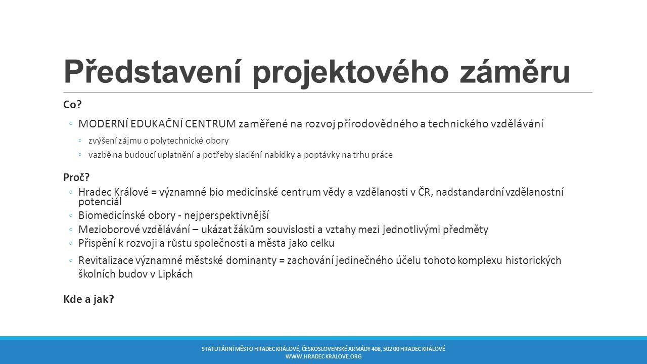 Představení projektového záměru Co.