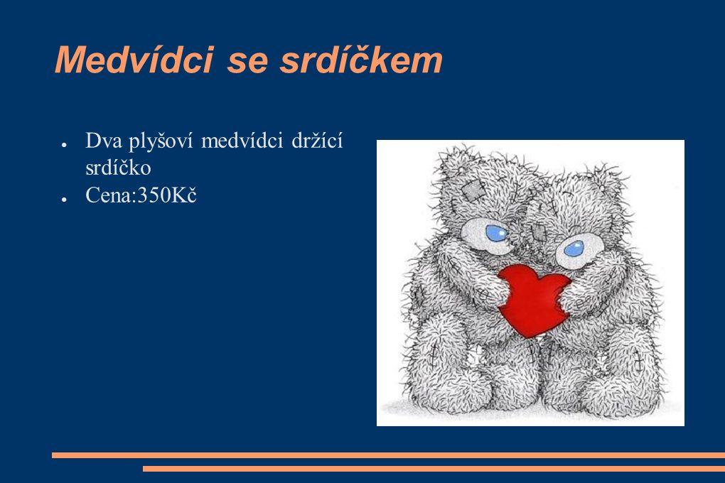 Medvídci se srdíčkem ● Dva plyšoví medvídci držící srdíčko ● Cena:350Kč
